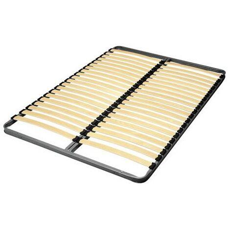 Sommier 140x190 cadre métal 2x20 lattes multiplis/