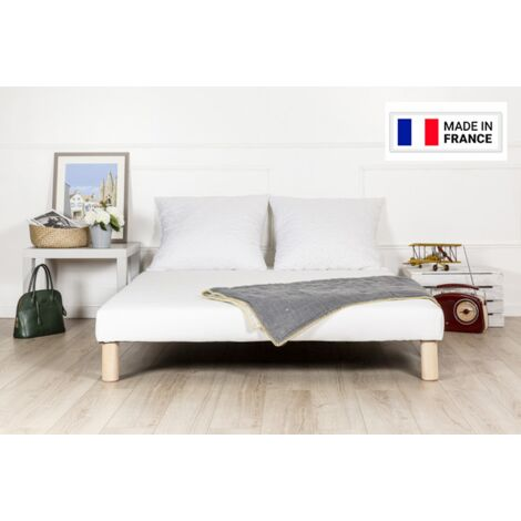 Sommier tapissier 140x200 pieds fabrication francaise