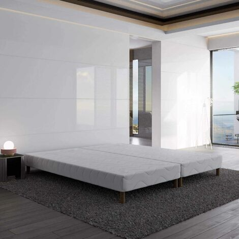 Sommier tapissier 160 X 200 cm + 8 pieds (2x 80x200cm)