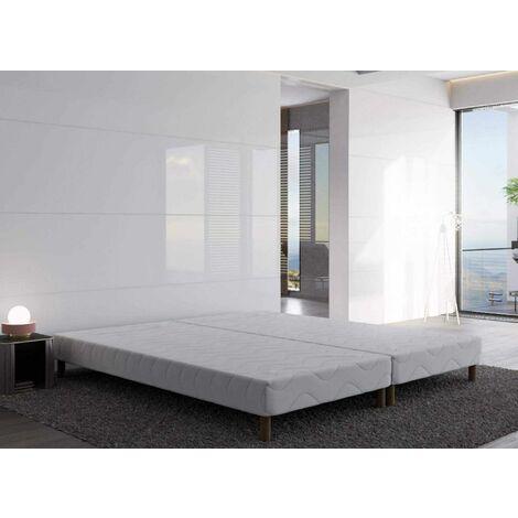 Sommier tapissier 180 X 200 cm + 8 pieds (2x 90x200cm)