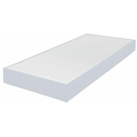 Sommier tapissier 70x190 Omega tissu nacre 18 lattes