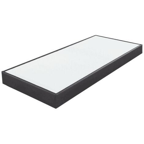 Sommier tapissier 80x200 SP18 13 lattes simili gris