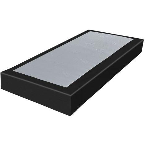 Sommier tapissier 80x200 SR18 simili noir
