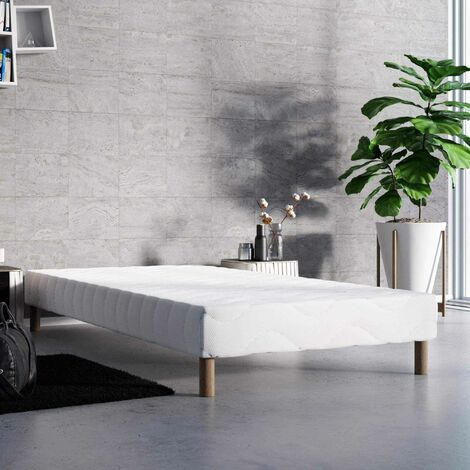 Sommier tapissier 90 x 190 cm + 4 pieds
