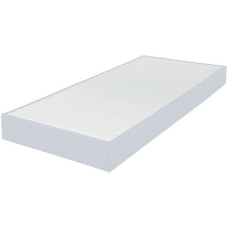 Sommier tapissier 90x190 Omega tissu nacre 18 lattes