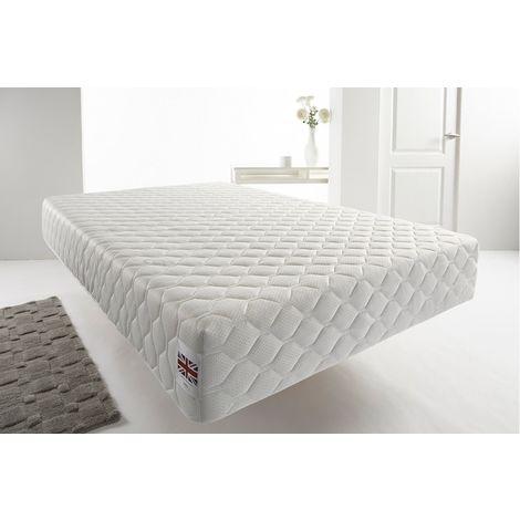 Somnior 25cm Deep White Quilted Memory Foam Vacum Roll Pack Mattress
