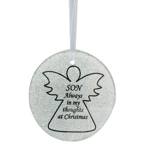 Son Angel Christmas Tree Memorial Tribute Ornament Bauble Decoration Xmas