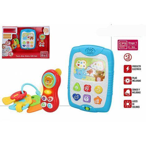 Sonajero, Teléfono y Tableta Infantiles, Juguetes para Bebés. Set 3 Juegos Infantiles, recién nacidos. 375 x 60 x 260 cm