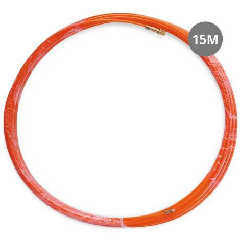 Sonda pasahilos prof.fibra vidrio+metal 4mm 15M