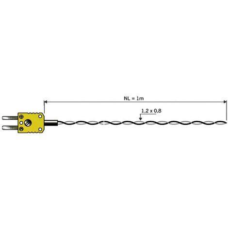 Sonde aérienne B & B Thermo-Technik 06001301-10 -50 à +260 °C sonde: K Etalonnage dusine (sans certificat) 1 pc(s)
