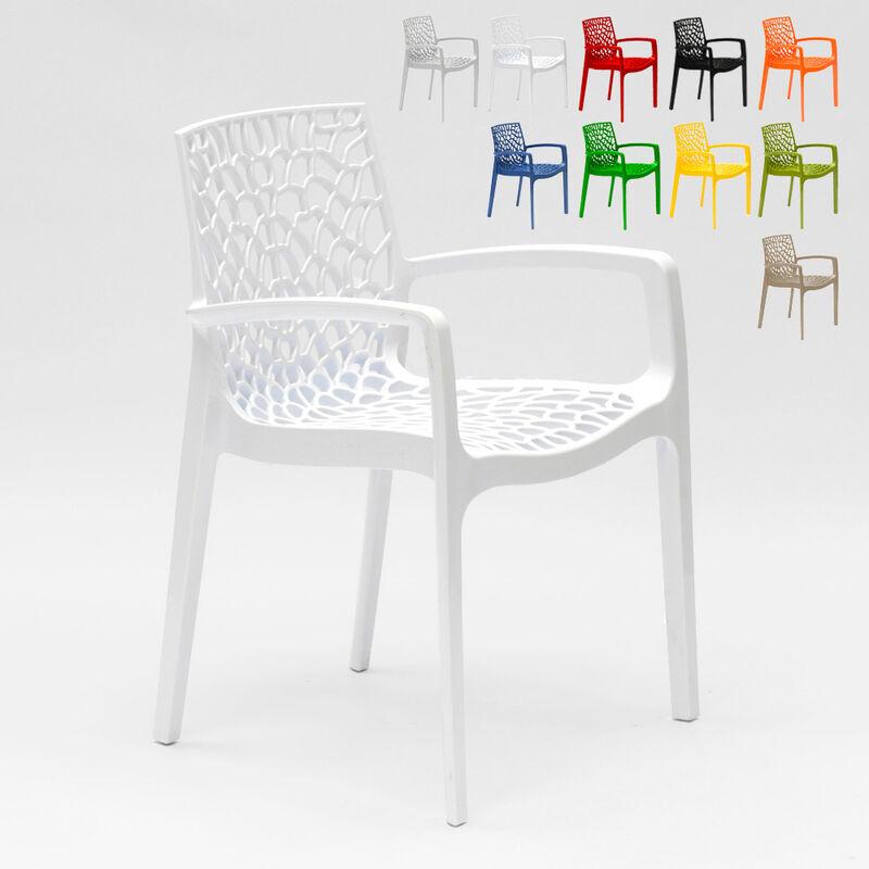 22 Sessel Stühle Gartenstühle Terrasse Gruvyer Arm | Weiß - Grand Soleil