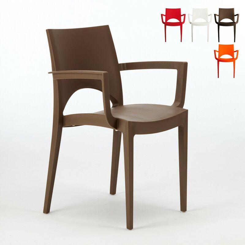 24 Sessel Stühle Gartenstühle Terrasse Paris | Braun - Grand Soleil