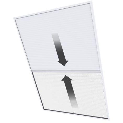 Sonnen- & Insektenschutz-Plissee für Dachfenster - 110x160 cm, weiß