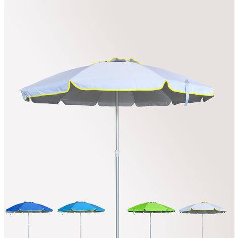 Sonnen Strandschirm Alu windfest UV Schutz 220 cm ROM