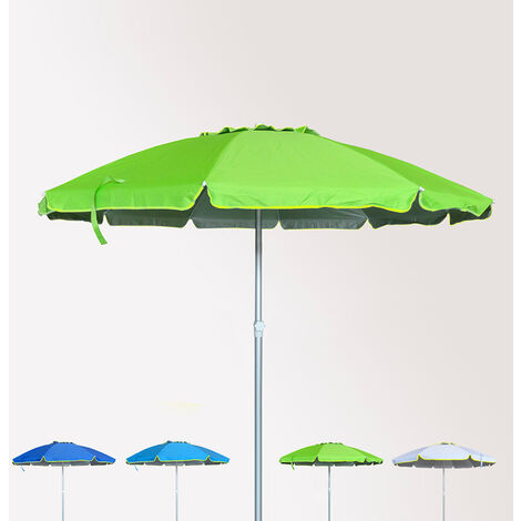 Sonnen Strandschirm Alu windfest UV Schutz 240 cm ROM