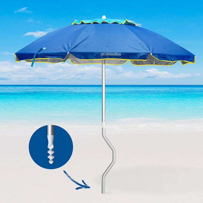 Sonnenschirm Ø 158 cm Strandschirm Alu Balkonschirm Gartenschirm UV Schutz 50+