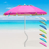 Sonnen Strandschirm GiraFacile Aluminium UV Schutz angeln 200 cm AFRODITE