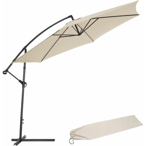 Sonnenschirm Ampelschirm Ø 350cm mit Schutzhülle - Ampelschirm, Sonnenschutz, Gartenschirm