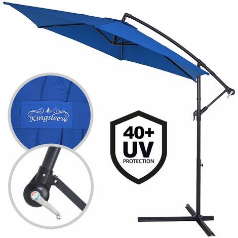 Sonnenschirm Ampelschirm Marktschirm Gartenschirm Kurbel Alu UV-Schutz Ø330cm