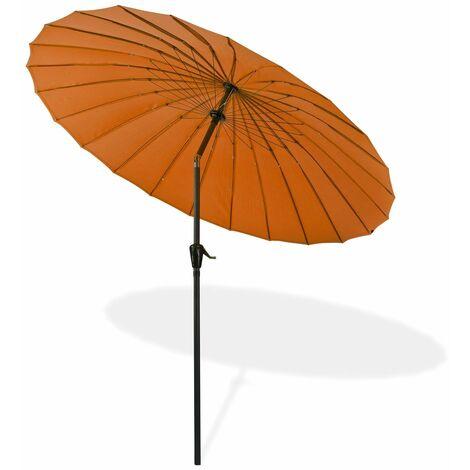 Sonnenschirm Gartenschirm Sonnenschutz Schirm Kurbelschirm Tokio 2,5m terracotta