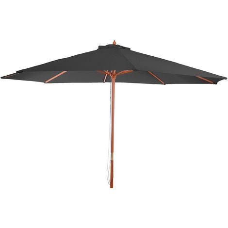 Sonnenschirm Lissabon, Gartenschirm Marktschirm, Ø 3,5m Polyester/Holz 7kg