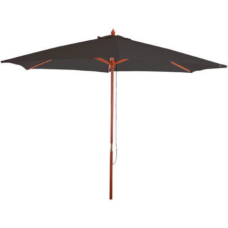 Sonnenschirm Lissabon, Gartenschirm Marktschirm, Ø 3m Polyester/Holz 6kg