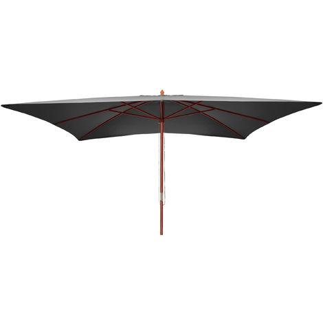 Sonnenschirm Lissabon, Gartenschirm Marktschirm, 3x4m Polyester/Holz 6kg