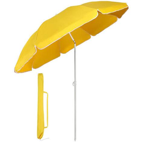 Sonnenschirm mit Abdeckhauben 160 cm Marktschirm Gartenschirm Terrassenschirm Rund Sonnenschutz UV20+