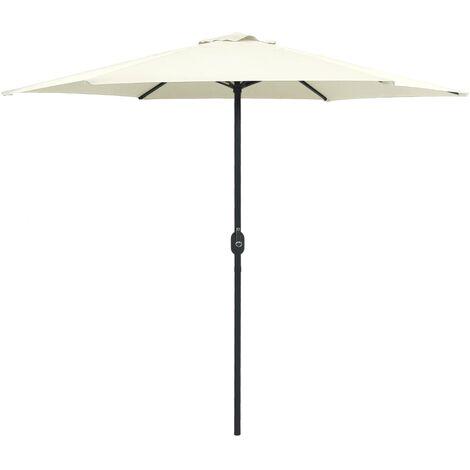 Sonnenschirm mit Aluminium-Mast 270 x 246 cm Sandweiß
