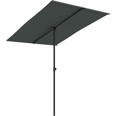 Sonnenschirm mit Aluminium-Mast 2x1,5 m Anthrazit