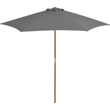 Sonnenschirm mit Holz-Mast 270 cm Anthrazit