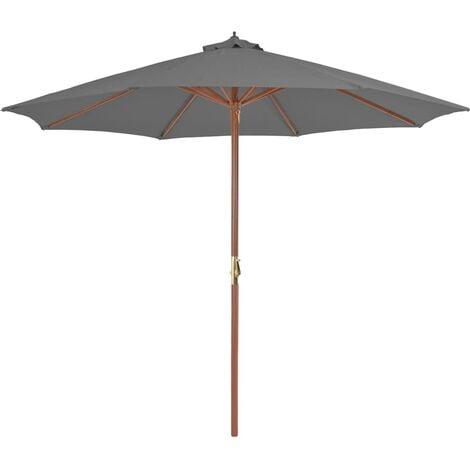 Sonnenschirm mit Holz-Mast 300 cm Anthrazit