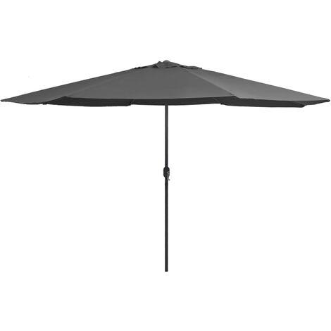 Sonnenschirm mit Metall-Mast 400 cm Anthrazit