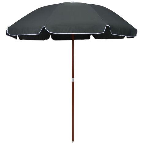 Sonnenschirm mit Stahlmast 240 cm Anthrazit