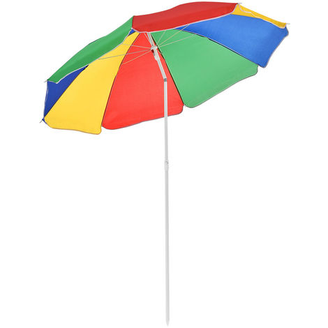 Sonnenschirm Regenbogenfarben 180cm-D62009