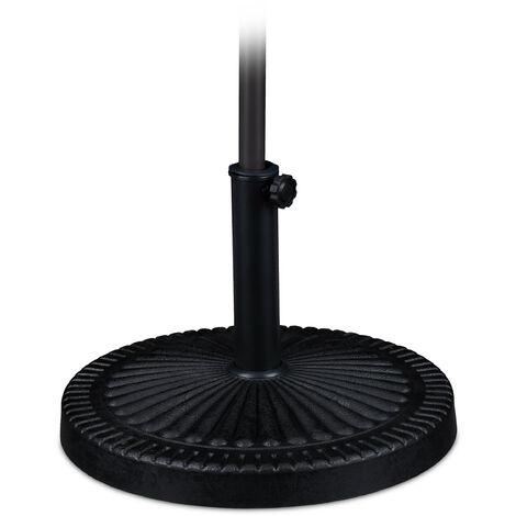 Sonnenschirmständer, für Schirmstangen 37-50 mm, wetterfest, stabil, Ø 49 cm, Garten & Balkon, Eisen, schwarz