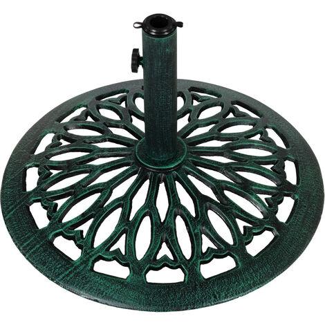 Sonnenschirmständer Gusseisen grün Gusseisen, 15 kg