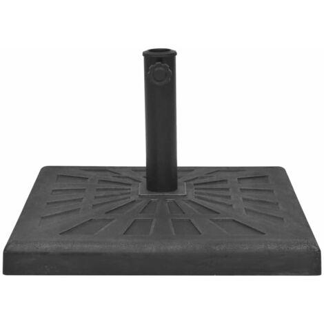 Sonnenschirmständer Harz Quadratisch Schwarz 19 kg
