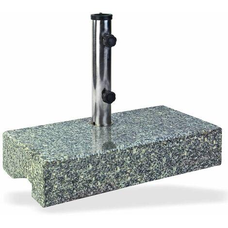 Sonnenschirmständer / Schirmständer halb Granit 25 kg Schirmfuß