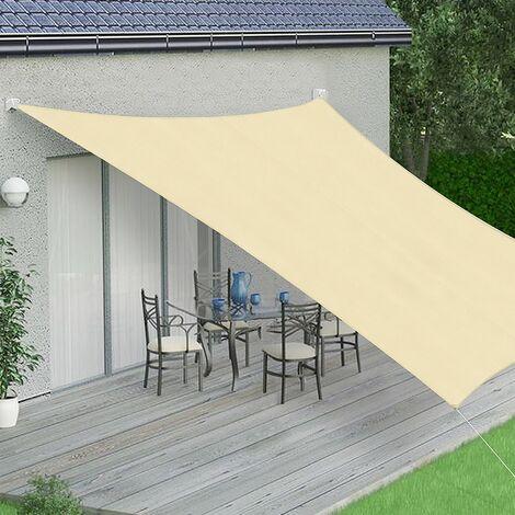 Sonnenschutzsegel Creme/Weiß - Quadrat - 3x3 m Windschutz Schattensegel