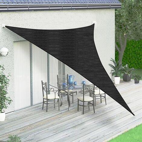 Sonnenschutzsegel Sonnensegel Sonnendach Anthrazit/Schwarz Dreieck 3,6 m