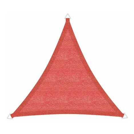 Sonnensegel Basic 3,6m Dreieck rot