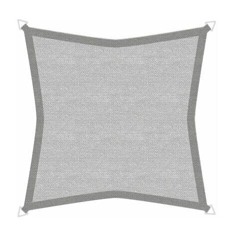 Sonnensegel Basic 3,6m Quadrat grau