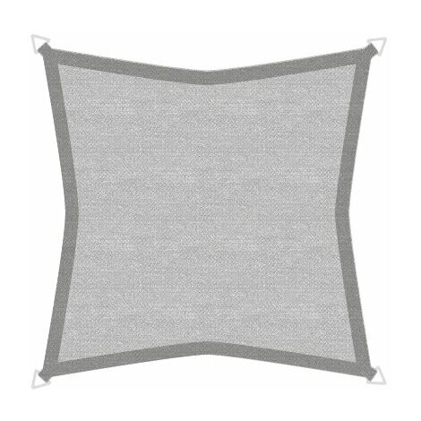 Sonnensegel Basic 5m Quadrat grau
