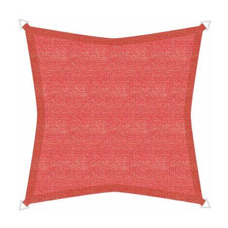 Sonnensegel Basic 5m Quadrat rot