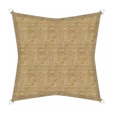 Sonnensegel Basic 5m Quadrat sand