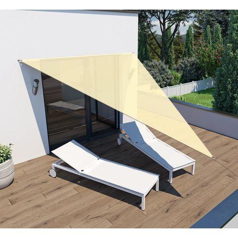 Sonnensegel 'Voile d'ombrage' Dreieck 4x4x3m beige