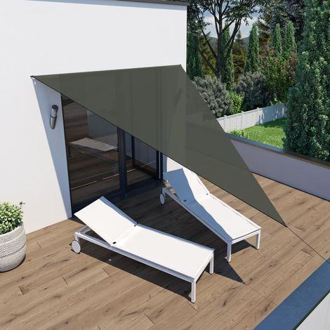Sonnensegel 'Voile d'ombrage' Dreieck 4x4x3m grau