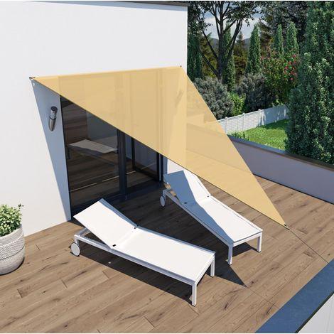 Sonnensegel 'Voile d'ombrage' Dreieck 4x4x3m sand