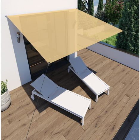 Sonnensegel 'Voile d'ombrage' Rechteck 3x2,5m sand